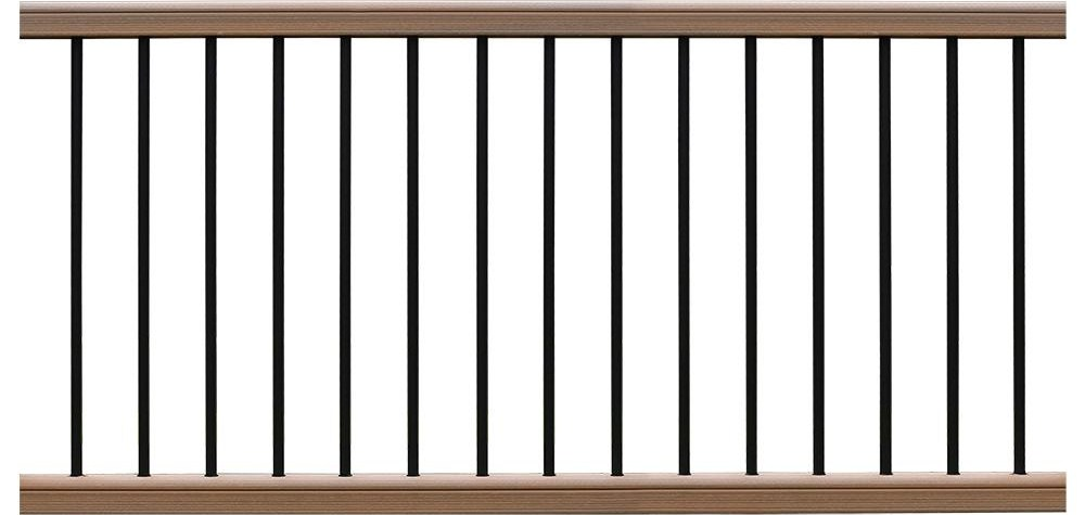 Newtechwood Ultrashield Hemispheres 36 In X 3 In X 6 Ft   Home Depot Handrails For Outdoor Steps   Wrought Iron Stair   Railing Ideas   Metal   Pressure Treated   Iron Railings