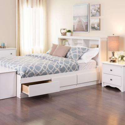 Full   Beds   Headboards   Bedroom Furniture   The Home Depot Monterey Full Wood Storage Bed