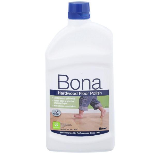 Bona 32 oz  High Gloss Hardwood Floor Polish WP510051002   The Home     Bona 32 oz  High Gloss Hardwood Floor Polish
