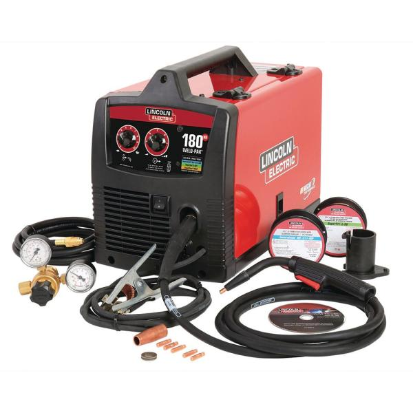 Lincoln Electric 180 Amp Weld Pak 180 HD MIG Wire Feed Welder with     Lincoln Electric 180 Amp Weld Pak 180 HD MIG Wire Feed Welder with Magnum  100L