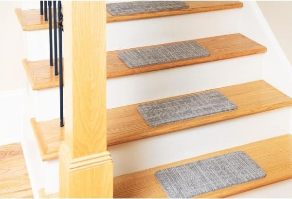 Nance Carpet And Rug Peel And Stick Earthtone Indoor Outdoor 8 In | Earth Rugs Stair Treads | Christmas Tree | Area Rugs | Rectangle Stair | Jute Fiber | Oval