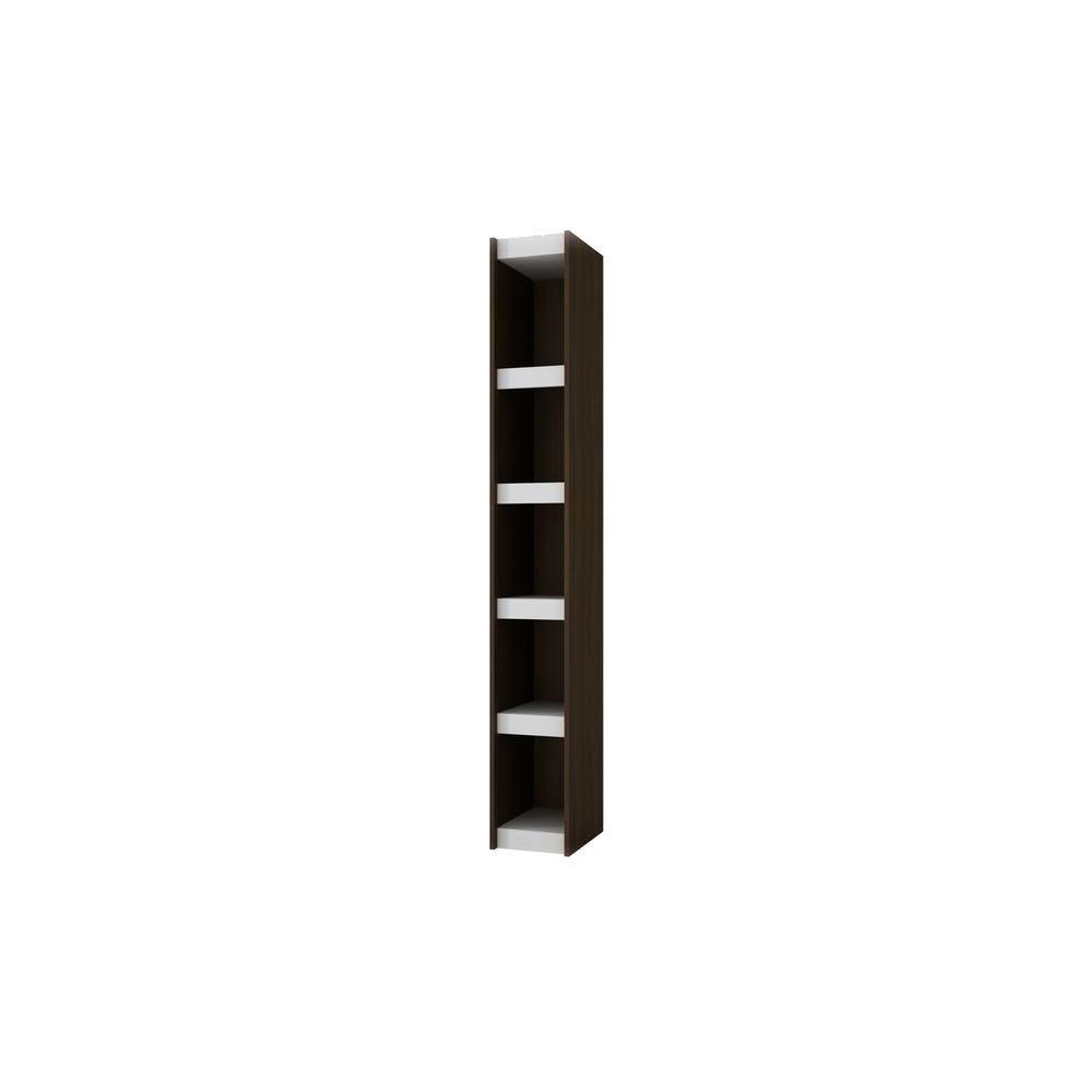 Manhattan Comfort Parana 1.0 White & Tobacco Open Bookcase ...
