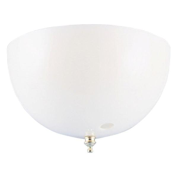 Westinghouse 4 3 4 in  Acrylic White Dome Clip On Shade with Pull     Acrylic White Dome Clip On Shade with