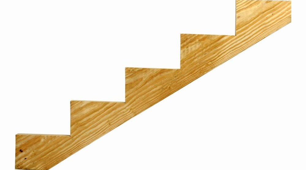 5 Step Ground Contact Pressure Treated Pine Stair Stringer 0623554 | Home Depot Stairs Outdoor | Treated Pine | Stair Tread | Stair Railing Kit | Metal | Handrail