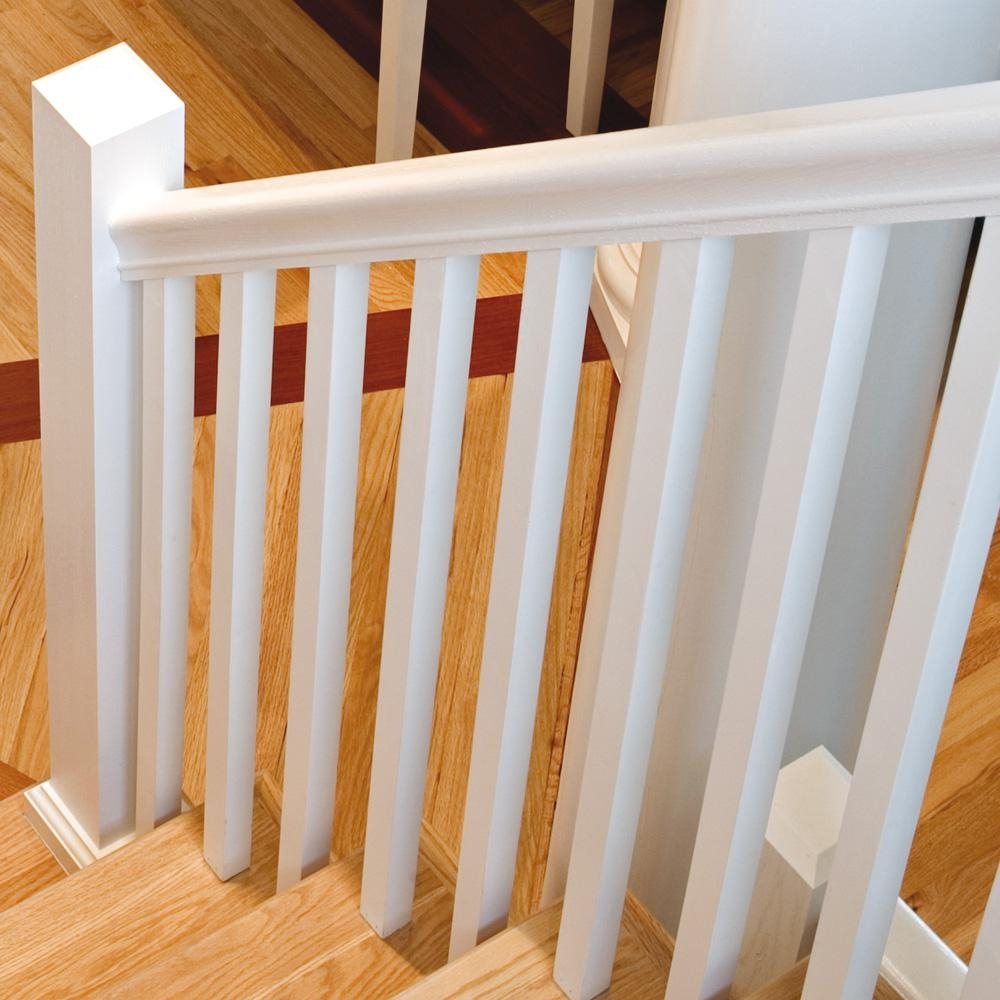 Stair Parts 41 In X 1 1 4 In Primed Square Baluster 5060X 041 | Home Depot Stair Banister | Wrought Iron Stair | Metal | Deck Railing | Railing Kits | Railing Systems
