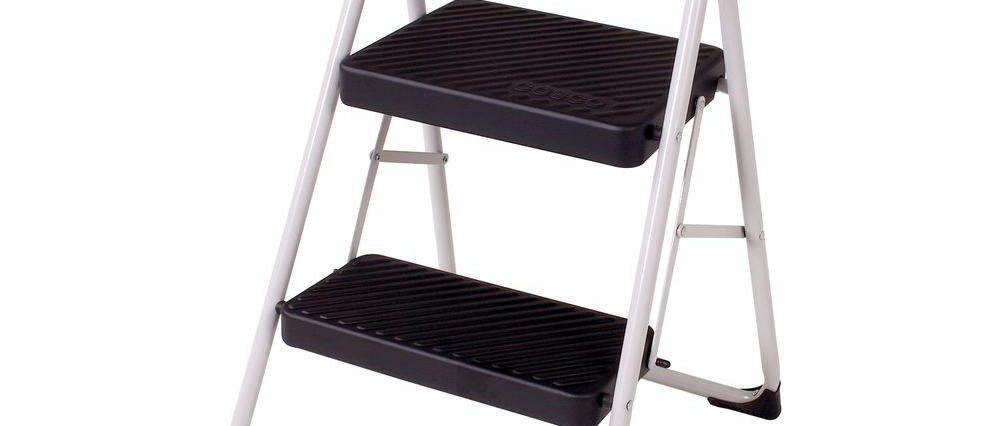 Cosco 2 Step Steel Folding Step Stool Ladder With 200 Lb Load | Metal Steps Home Depot | Roofing | Galvanized Steel | Step Stool | Gorilla Ladders | Wrought Iron Railings