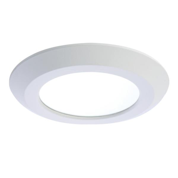 Halo SLD 5 in  and 6 in  White Integrated LED Recessed Retrofit     White Integrated LED Recessed Retrofit Ceiling Mount