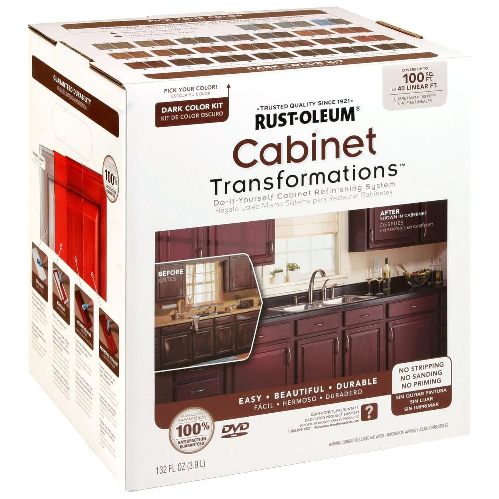 Best Kitchen Gallery: Rust Oleum Transformations Dark Color Cabi Kit 9 Piece 258240 of Kitchen Cabinet Refinishing Kit on rachelxblog.com