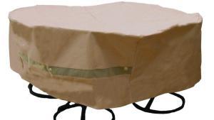 Hearth Garden Polyester Original Round Patio Table And