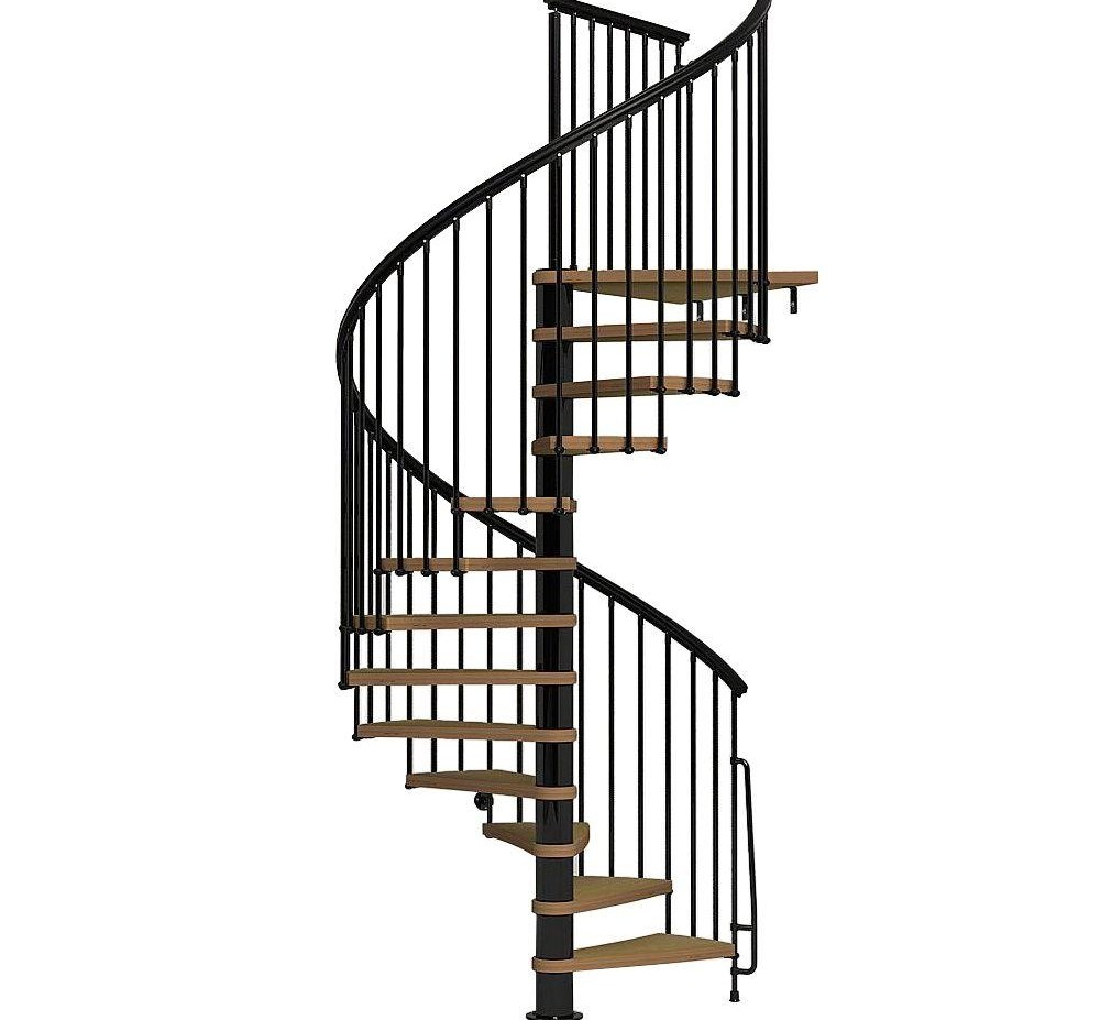 Arke Nice1 63 In Black Spiral Staircase Kit K50107 The Home Depot | Outdoor Spiral Staircase Prices | Stair Case | Wrought Iron | Stainless Steel Spiral | Handrail | Stair Parts