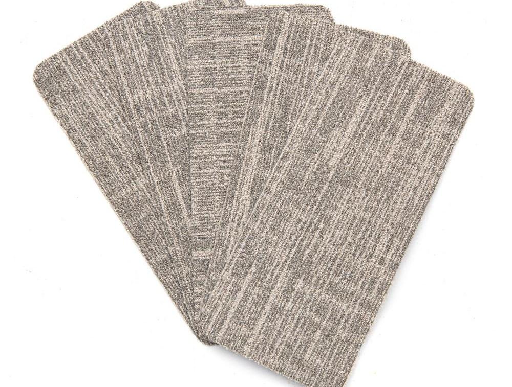 Nance Carpet And Rug Peel And Stick Earthtone Indoor Outdoor 8 In | Wool Carpet Stair Treads | Flooring | Zealand Wool | Beige Carpet | Cat Pet | Hardwood Stairs