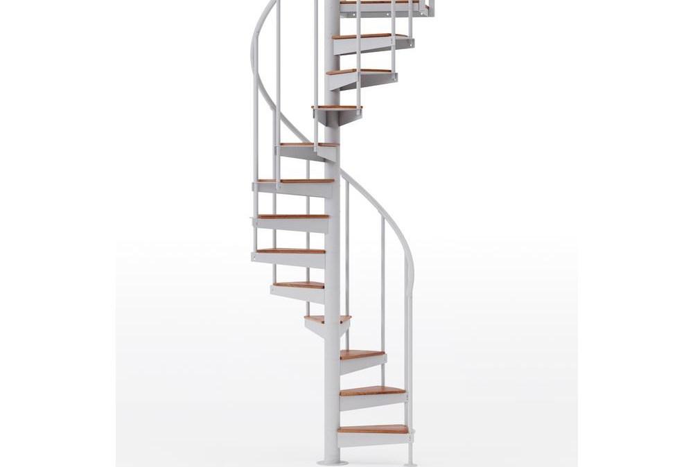 Mylen Stairs Condor White Interior 42 Diameter 12 Treads With 2   Outdoor Spiral Staircase Home Depot   Stair Parts   Stair Case   Steel Spiral   Stair Kit   Handrail
