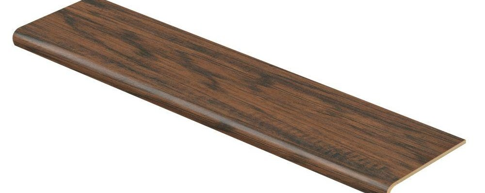 Cap A Tread Coffee Hs Hickory 47 In Long X 12 1 8 In Deep X 1 11 | Hand Scraped Stair Treads | Tread Width | Brazilian Cherry | Stair Parts | Hardwood Floors | Laminate Flooring