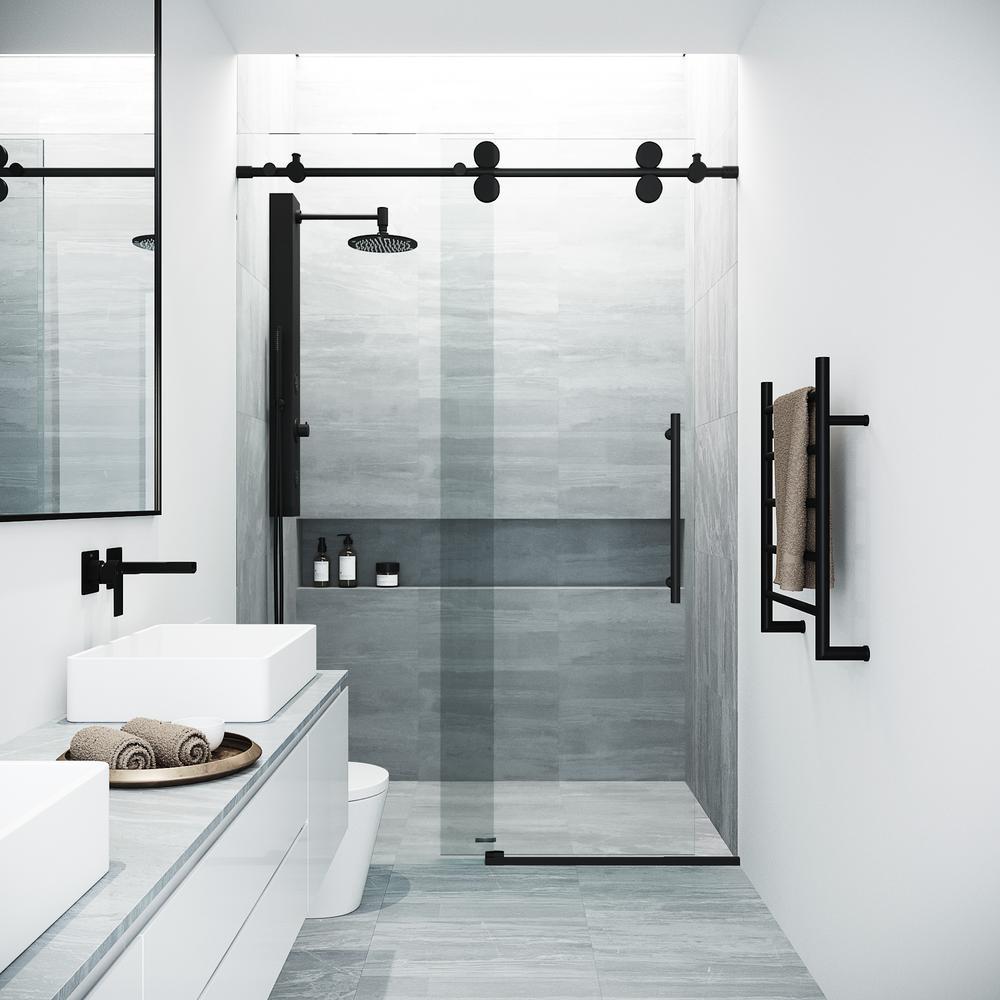 Vigo 60 In X 74 In Frameless Sliding Shower Door In
