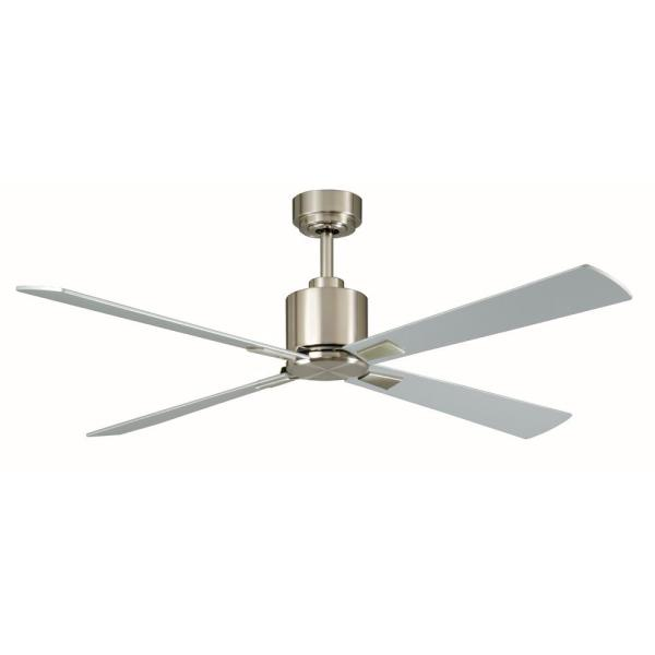 Silver   Ceiling Fans   Lighting   The Home Depot Indoor Brushed Nickel Ceiling Fan with Remote Control