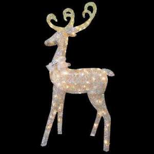 Yard Stake   Holiday Decorations   The Home Depot Reindeer Decoration with Clear Lights