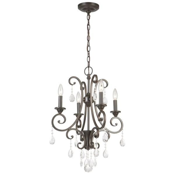 small black crystal chandelier # 8