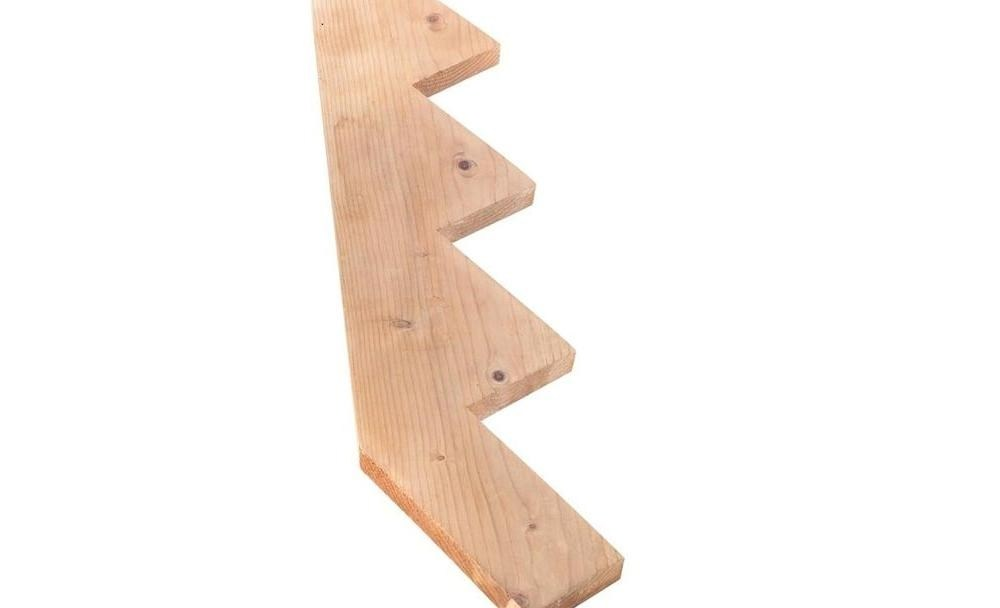 4 Step Outdoor Pressure Treated Stair Riser 559000140000000 The   Prefab Wooden Stairs Home Depot   Cement   Modular Staircase   Handrail   Stair Stringer   Stair Railing