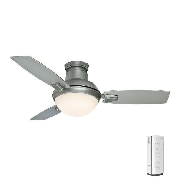 Casablanca Verse 44 in  LED Indoor Outdoor Satin Nickel Ceiling Fan     Casablanca Verse 44 in  LED Indoor Outdoor Satin Nickel Ceiling Fan with Light  Kit and Universal Remote 59155   The Home Depot