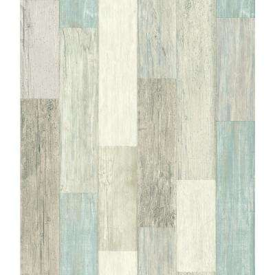 Peel   Stick   Wood   Wallpaper   Decor   The Home Depot Coastal Weathered Plank Peel and Stick Wallpaper
