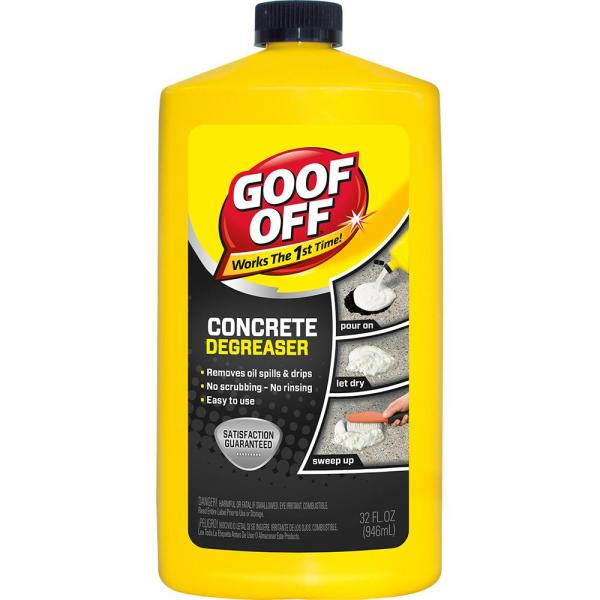 Goof Off 32 oz  Concrete Cleaner Degreaser FG820   The Home Depot Concrete Cleaner Degreaser