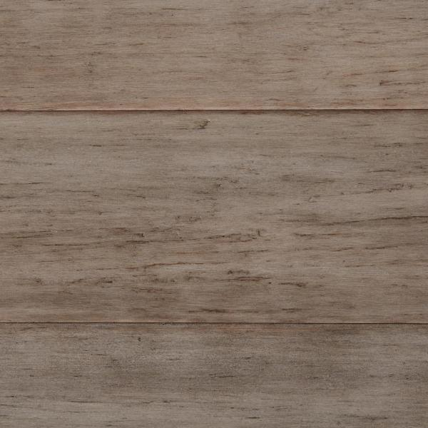 Bamboo Flooring   Hardwood Flooring   The Home Depot Hand Scraped Strand Woven Earl Grey 3 8 in  T x 5 1