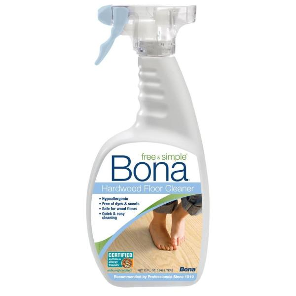 Bona 32 oz  Free and Simple Hardwood Cleaner WM76005101   The Home Depot Bona 32 oz  Free and Simple Hardwood Cleaner