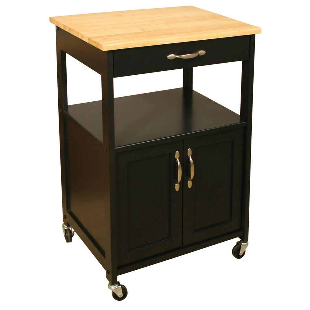 Best Kitchen Gallery: Catskill Craftsmen Black Kitchen Cart With Storage 80696 The Home of Kitchen Microwave Stands on rachelxblog.com