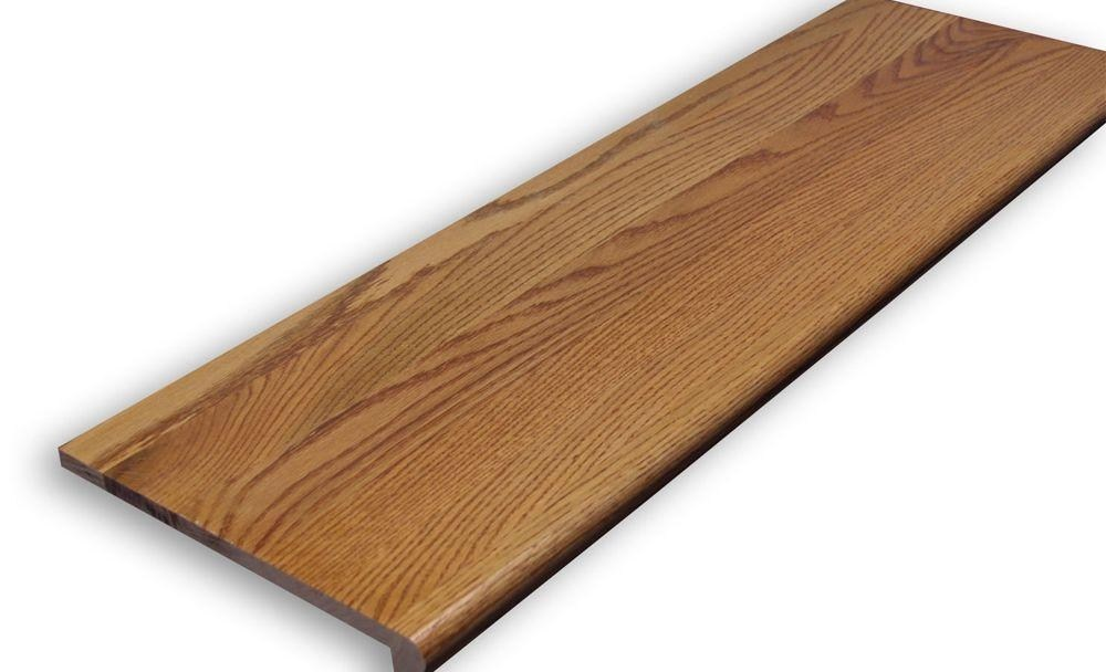 Stairtek 625 In X 11 5 In X 36 In Prefinished Gunstock Red | Prefinished Hardwood Stair Treads | Hand Scraped | Wood Stair | Red Oak Natural | Flooring | White Oak