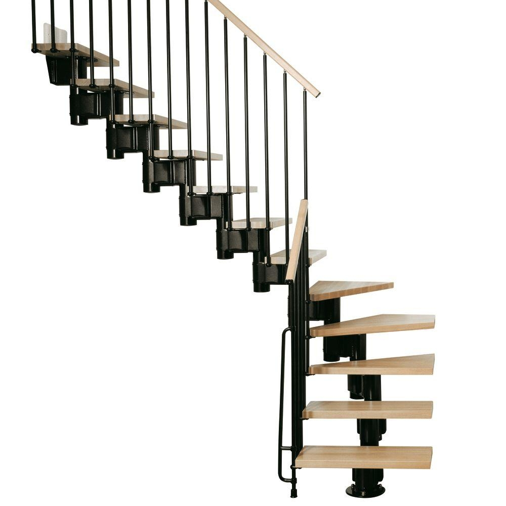 Arke Kompact 35 In Black Modular Staircase L Kit K35023 The | Metal Steps Home Depot | Roofing | Galvanized Steel | Step Stool | Gorilla Ladders | Wrought Iron Railings