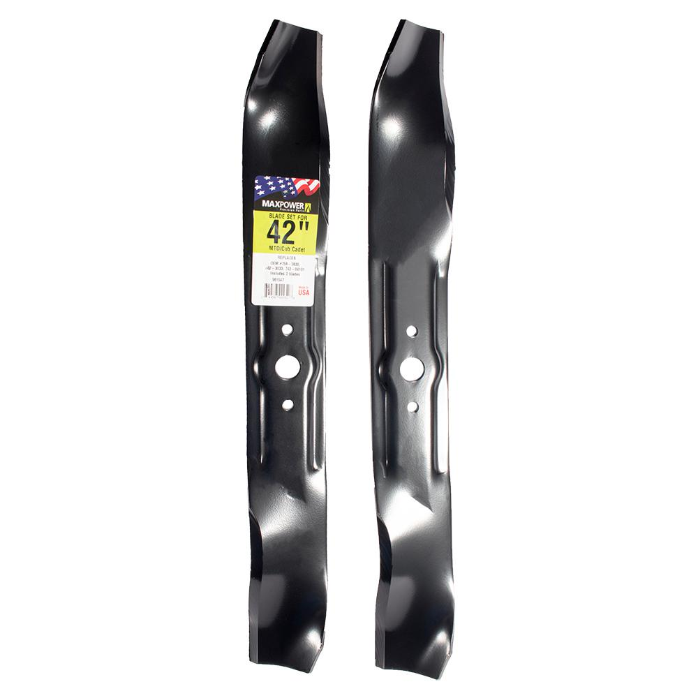 Maxpower 42 In Mower Blade Set For Mtd Cub Cadet Troy