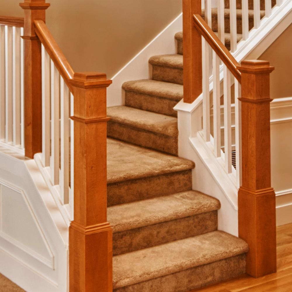 Stair Parts 36 In X 11 1 2 In Pine Stair Tread 8503E 036 Hd00L | 36 Inch Carpet Stair Treads | Attachable Indoor | Walmart | Basement Stairs | Vanilla Cream | Pet Friendly