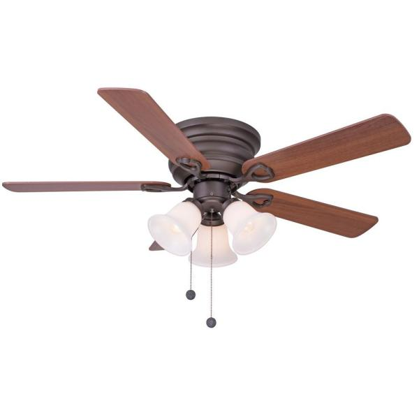 Clarkston 44 in  Indoor Oil Rubbed Bronze Ceiling Fan with Light Kit     Indoor Oil Rubbed Bronze Ceiling Fan with Light Kit