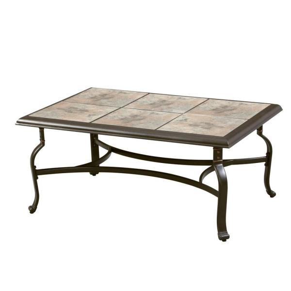 Bolingbrook   Patio Tables   Patio Furniture   The Home Depot Belleville Tile Top Patio Coffee Table