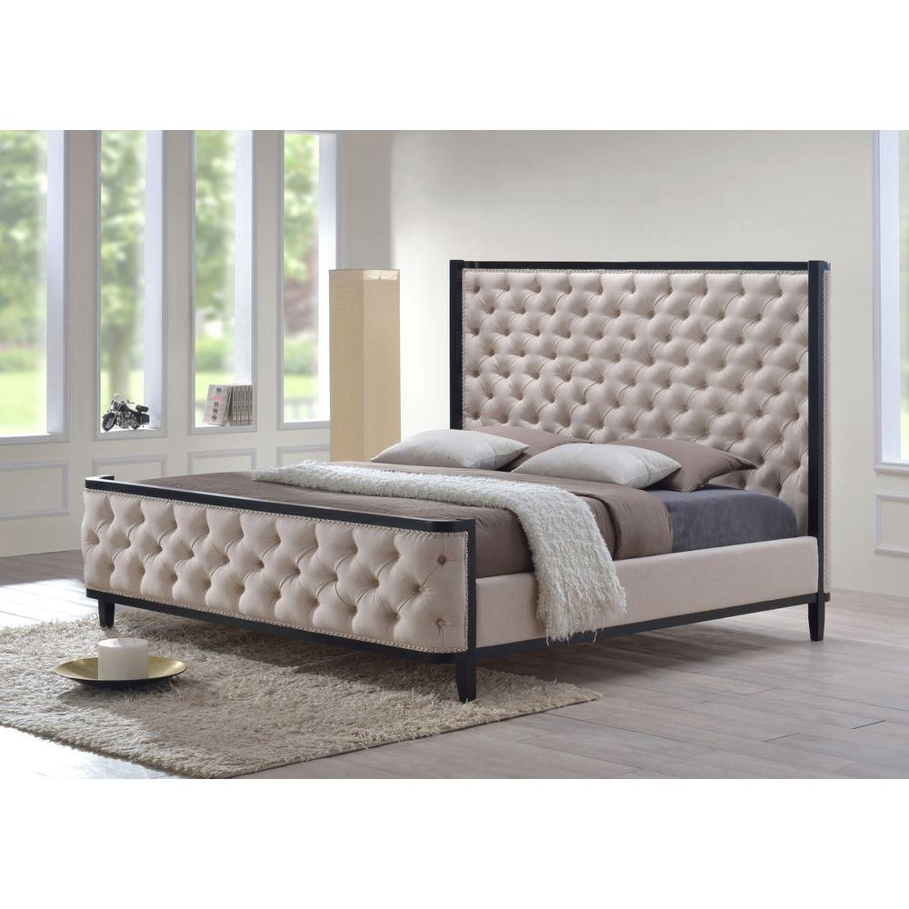 king size tufted bed frame   Nuruf comunicaasl com king size tufted bed frame