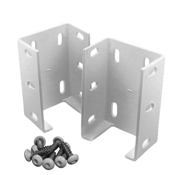 Metal   Fencing Parts   Accessories   Fencing   The Home Depot Aluminum Rail Bracket for Vinyl Fencing  2 Pack