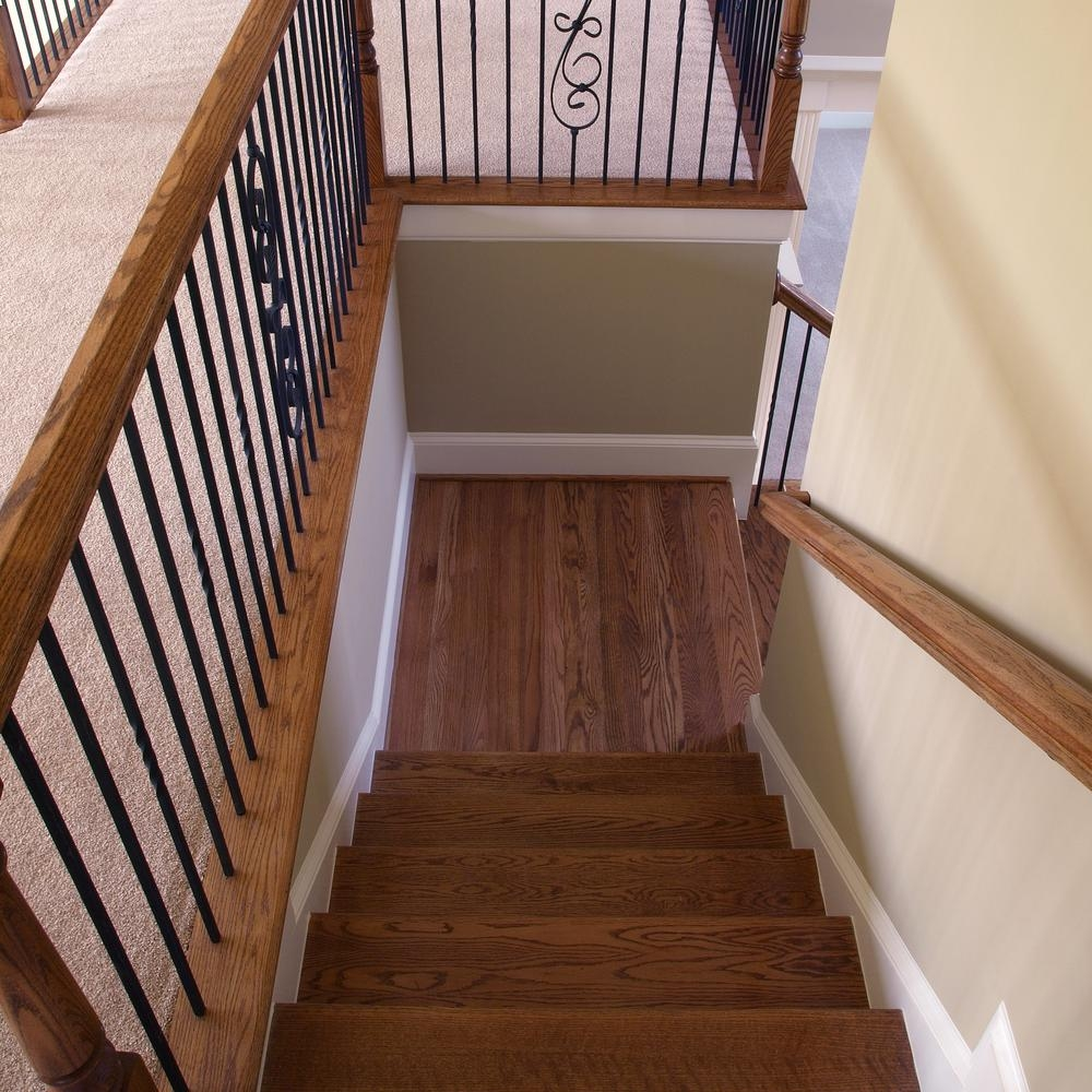 Stair Parts 192 In X 5 1 4 In Red Oak Landing Tread 6Lt0R 514   White Oak Stair Treads Home Depot   Stairtek   Laminate   Stair Parts   Landing Tread   Handrail
