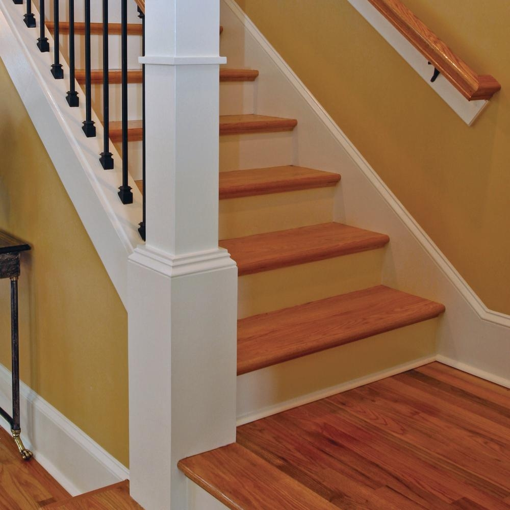 Stair Parts 5 16 In X 7 5 In X 48 In Red Oak And Primed | Oak Stairs With White Risers | Natural | Red Oak | Character | Hardwood | Dark Walnut Staircase