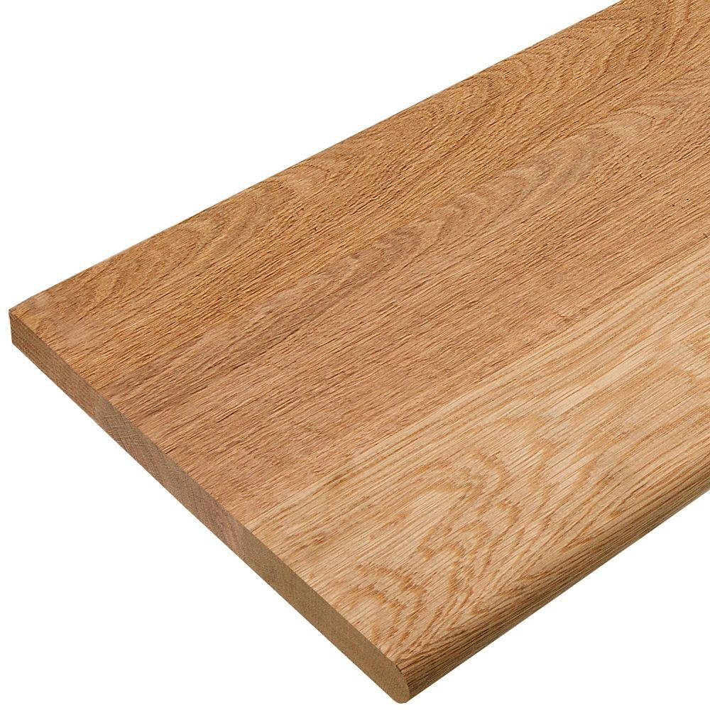 11 1 2 In X 36 In Red Oak Engineered Plain Stair Tread 8530R 036 | Solid Red Oak Stair Treads | Stair Parts | Slate Tile | Wood | Staircase Makeover | Stair Railing