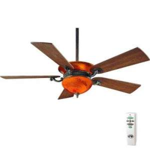 Wood   Ceiling Fans   Lighting   The Home Depot Indoor Nutmeg Ceiling Fan with Light Kit and Remote Control