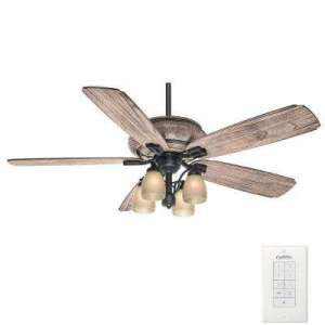 Light Brown Wood   Ceiling Fans   Lighting   The Home Depot Indoor Outdoor Tahoe Ceiling Fan with Universal Wall Control