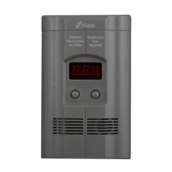 Kidde Plug In Carbon Monoxide and Explosive Gas Detector with 9V     Kidde Plug In Carbon Monoxide and Explosive Gas Detector with 9V Battery  Backup and Digital