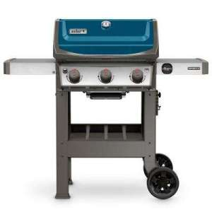 Folding   Porcelain Enameled Cast Iron   Propane Grills   Gas Grills     Spirit II E 310 3 Burner Propane Gas Grill in Sapphire