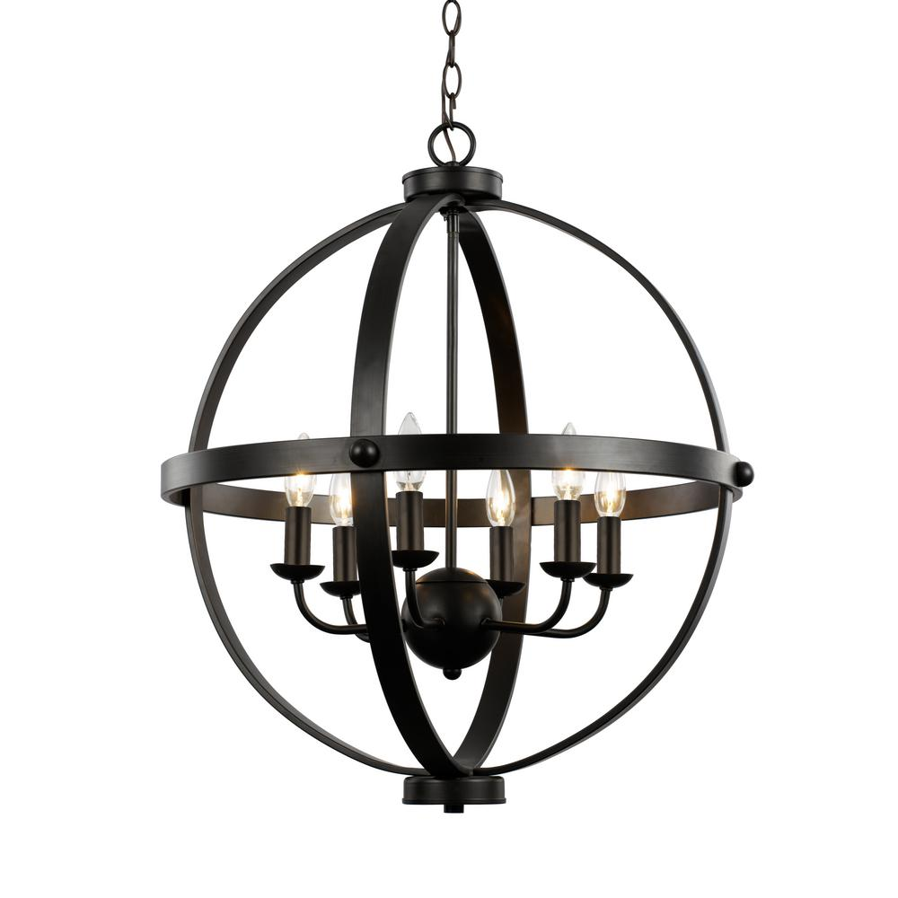 Bel air lighting 6 light chandelier aloadofball Image collections
