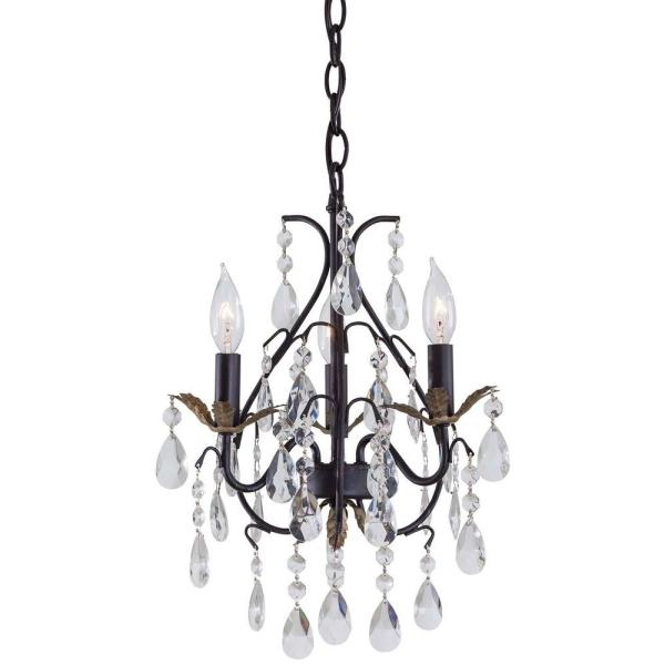 small black crystal chandelier # 16