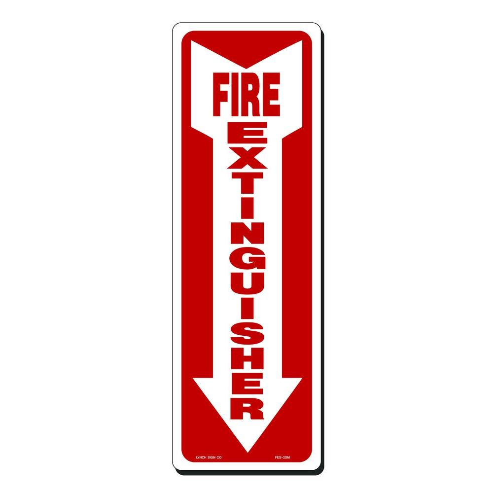 Lynch Sign 4 in. x 12 in. Fire Extinguisher with Arrow ...