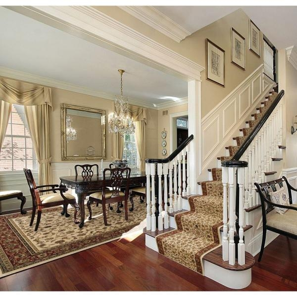 Natco Sapphire Sarouk Ivory 26 In X Your Choice Length Stair | Roll Runners For Stairs | Flooring | Carpet Stair Treads | Canyon Kazmir | Persian Garden | Area Rugs