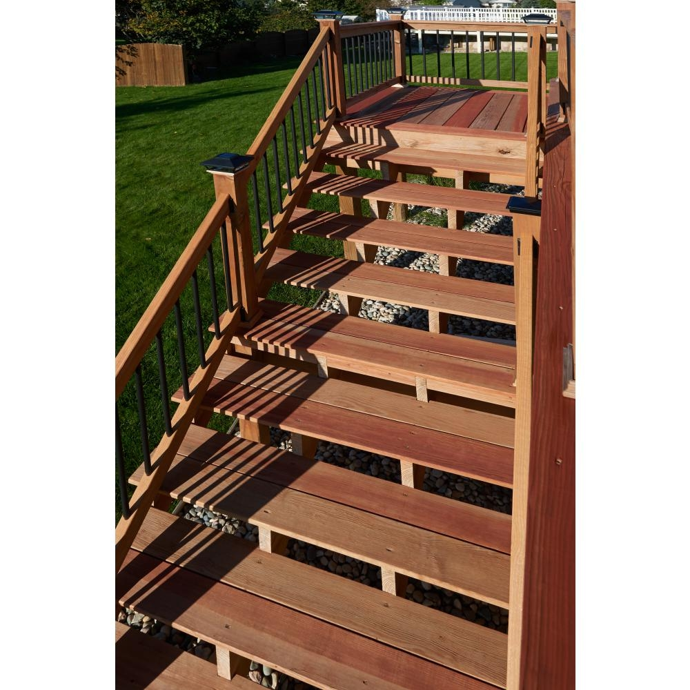 2 Step Pressure Treated Cedar Tone Pine Stair Stringer 215726 | Prefab Wooden Stairs Home Depot | Front Porch | Stair Case | Stair Stringer | Modular Staircase | Spiral Staircase