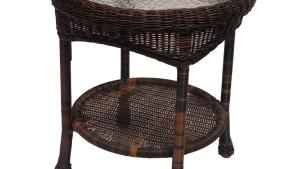 Hampton Bay Spring Haven 20 In Brown All Weather Wicker