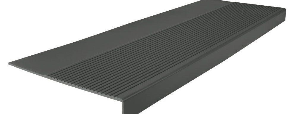 Roppe Light Duty Ribbed Design Black Brown 12 1 4 In X 48 In | Outdoor Rubber Stair Treads Home Depot | Riser | Coin Grip | Rubber Cal | Stair Mats | Recycled Rubber